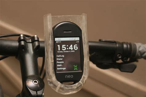 bike mount homemade bike mount  openmoko freerunner