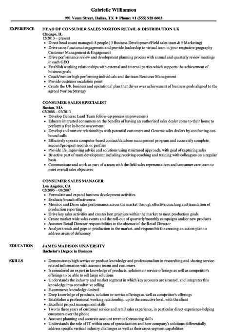 tableau resume sles consumer sales resume sles velvet