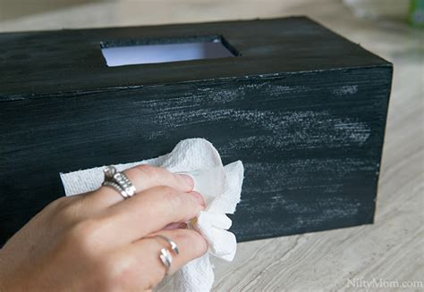 chalk paint not covering diy chalkboard tissue box cover