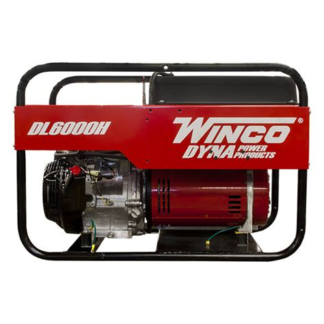 winco portable generator dl6000h 6000 watt honda