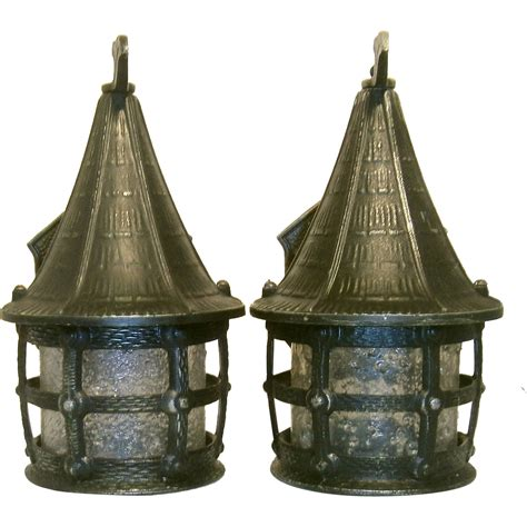Cottage Style Lighting by Pair Vintage Cottage Style Storybook Lantern Porch Lights
