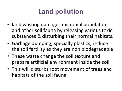 Land Essay by Land Disposal Of Waste And Environmental Pollution