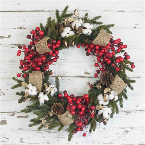 this 18 inch wreath is a classic for your traditional