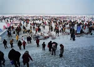 harbin songhua river ice and snow happy valley 2014