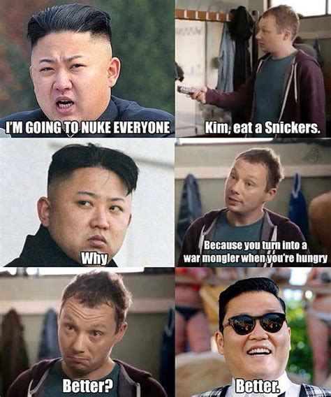 Kim Jong Un Memes - check out this hilarious kim jong un snickers meme