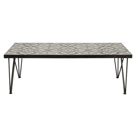 Tile Coffee Table Metal And Cement Tile Coffee Table W 120cm Mosaic Maisons Du Monde