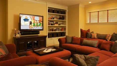 tv room sofa arrange furniture around fireplace tv interior design