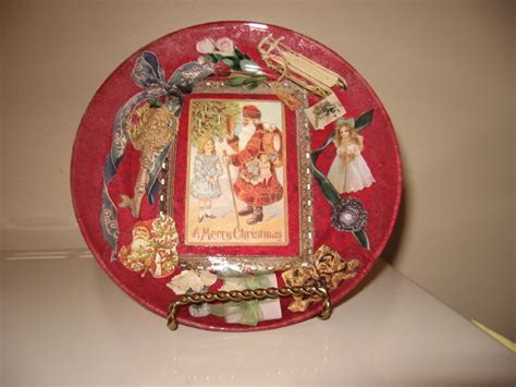 Clear Glass Plates For Decoupage - clear glass plate crafts