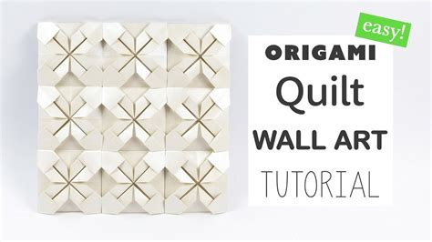 Origami Wall Diy - easy origami quilt wall tutorial diy paper kawaii