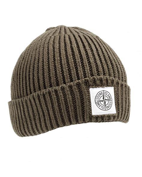 green knit beanie island mens wool hat green knit logo beanie