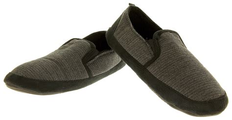 winter house shoes dunlop mens slippers warm winter fleece lined slip on