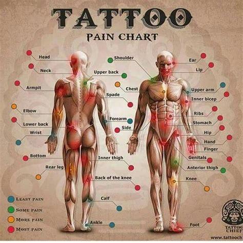 pain level in getting a tattoo tattoo pain chart tato pinterest charts it hurts