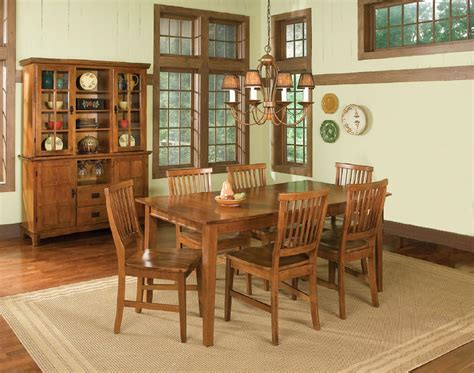 arts and crafts dining room set alliancemv
