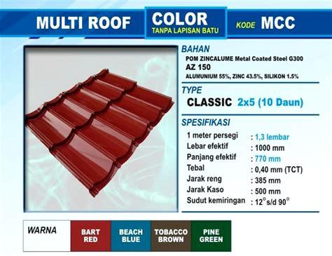 Genteng Metal Multiroof Berpasir atap zincalume genteng metal insulations translucent