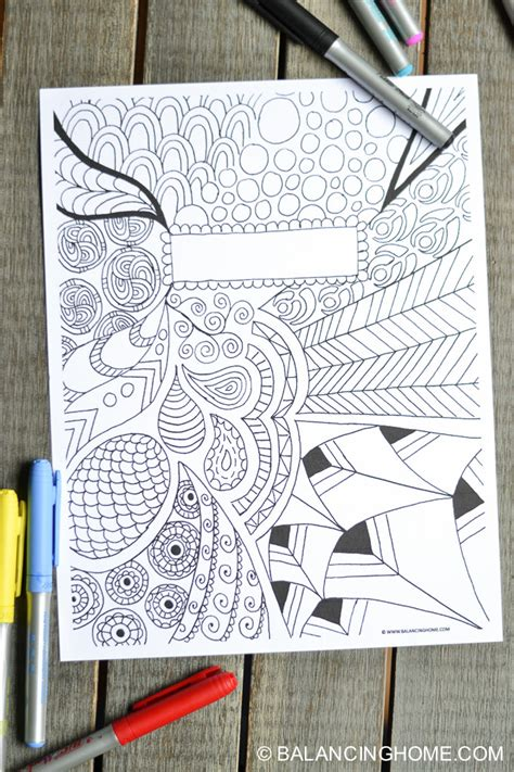 printable binder covers to colour coloring page binder cover printable binder doodles and