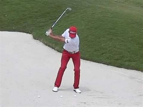 golf swing slow motion face on rafa cabrera bello golf swing bunker slow motion volvo
