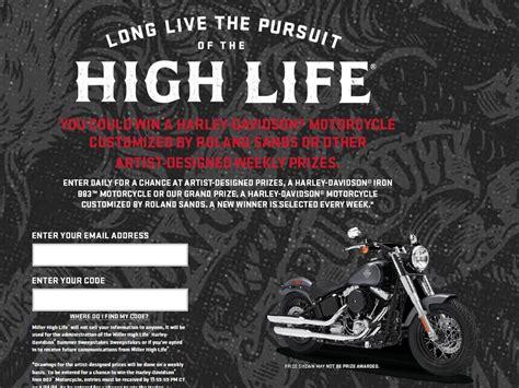 Harley Davidson Giveaway Contest - miller high life harley davidson summer sweepstakes sweepstakes fanatics