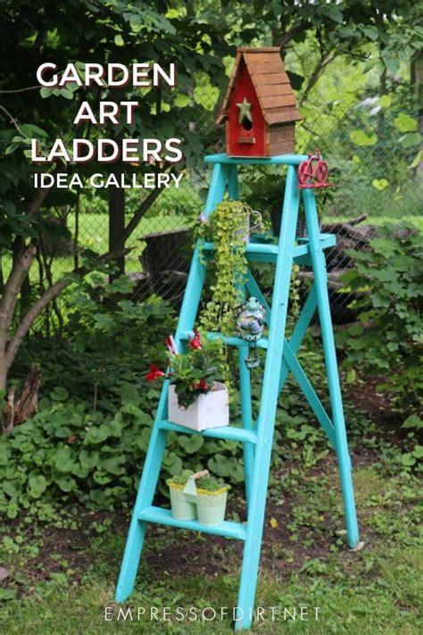 creative  rustic garden art ladder ideas empress