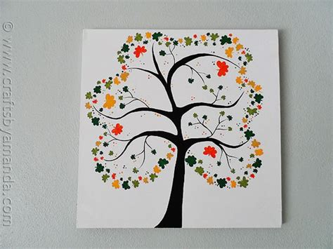 projects for adults shamrock tree on canvas recipe summer crafts
