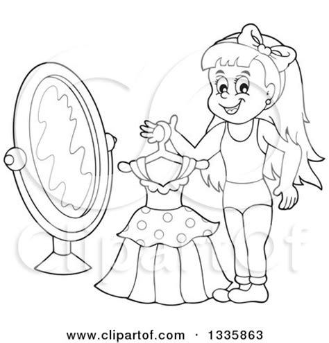 coloring pages getting dressed royalty free stock illustrations of clothes by visekart page 1