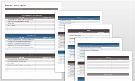 Free Punch List Templates Smartsheet Home Builder Selection Sheet Template