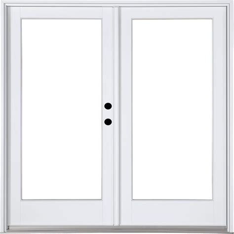 Masterpiece 58 3 4 In X 79 1 4 In Fiberglass White Left Masterpiece Patio Doors