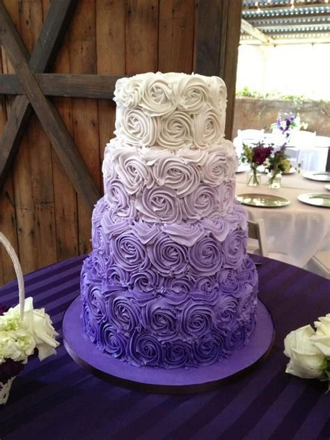 Southern Blue Celebrations: Purple Wedding Cake Ideas