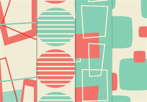 1950s background retro background vector pack free vector