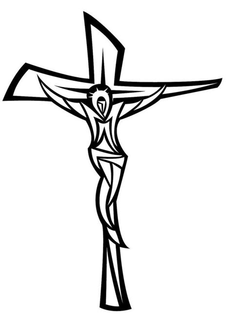 imagenes a lapiz de jesus en la cruz dibujo para colorear jes 250 s en la cruz img 24668