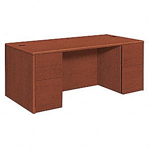 Assembled Office Desks Hon Office Desk 2 Drawers Fully Assembled 45me92 Hon10799jj Grainger