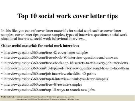 cover letter sles for social workers top 10 social work cover letter tips