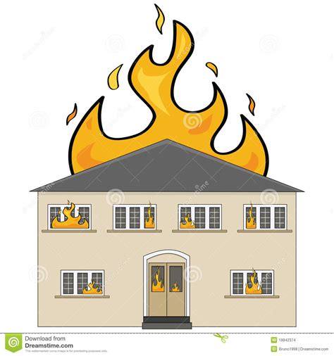 2 Storey House Plans by House On Fire Stock Images Image 19942374