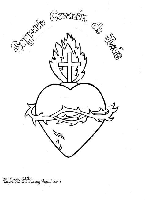imagenes sagrado corazon de jesus para colorear recursos pastorales sope 241 a dibujos del sagrado coraz 243 n de