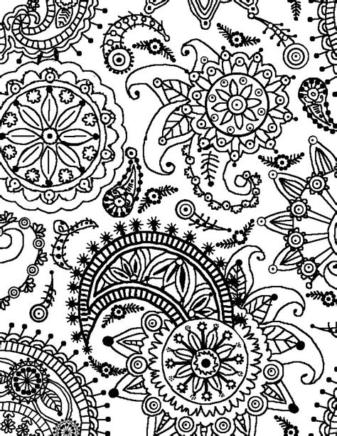 Coloring Page World Paisley Flower Pattern Portrait Coloring Pages Pattern