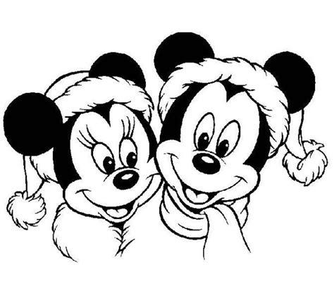 mickey mouse merry christmas coloring pages dibujos de navidad para colorear de disney