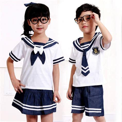 Baju Sekolah Anak Sd unisex pullover pendek rok lengan layanan taman tk layanan kelas pakaian anak anak seragam