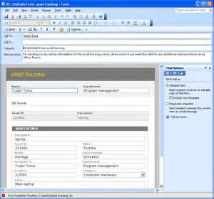 infopath form templates using infopath e mail forms microsoft infopath 2010