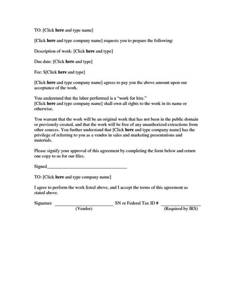 sle work for hire agreement template sletemplatess