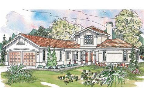 Covered Front Porch Plans spanish style house plans grandeza 10 136 associated