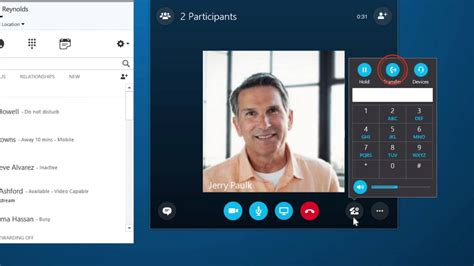 Searching For On Skype Make A Call In Skype For Business