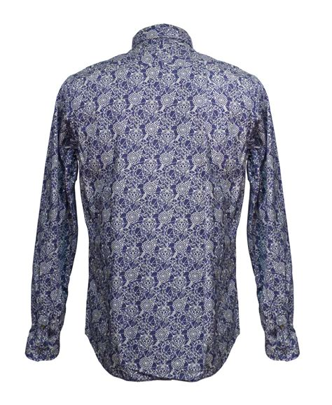 abstract pattern shirts paul smith indigo abstract pattern shirt jkfj 054n 719