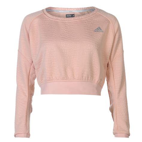 adidas adidas aktiv cropped pullover jumper
