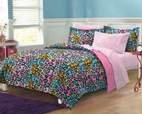 new neon leopard teen girls bedding comforter sheet set ebay