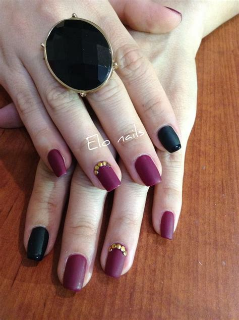 imagenes de uñas de acrilico mate u 241 as mate color vino elo nails pinterest colores