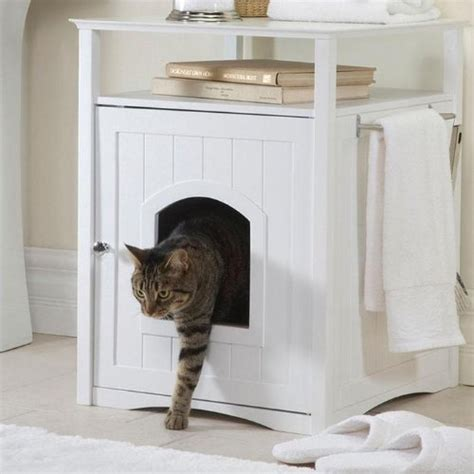 litter box bathroom cat dog bathroom night stand bed table furniture pet house