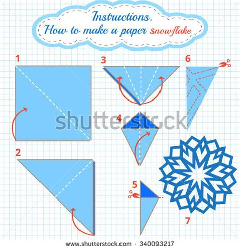 To Make A Paper Snowflake - craft stock photos images pictures