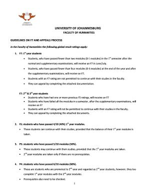 Acceptance Letter At Uj What Is F7 Uj Fill Printable Fillable Blank Pdffiller