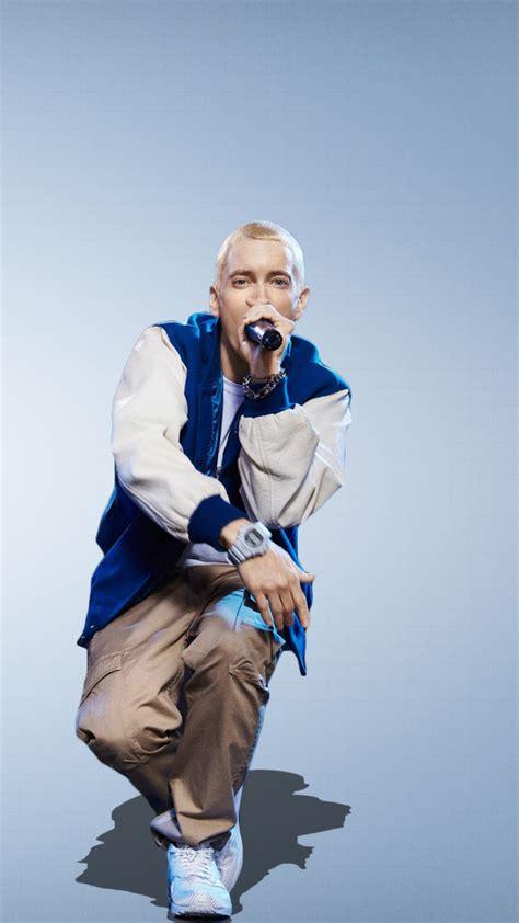 HD Background Eminem Singer Blue Logo Wallpaper