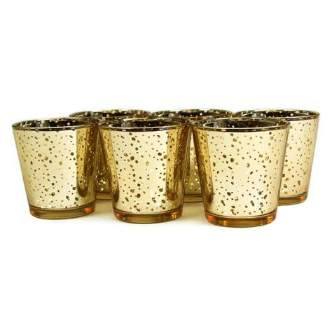 Gold Candlestick Holders Bulk 2 55 Inch Glass Mercury Wedding And Votive
