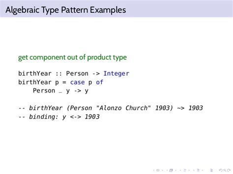 pattern match on types functional programming pattern matching